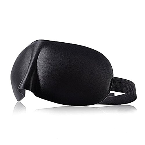 Sleep Eyes Rest Black Cover with Ear Plugs Nap Cotton Sleeping Mask