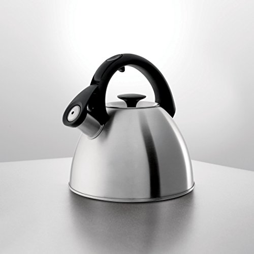 OXO Good Grips Click Click Tea Kettle, Brushed Stainless