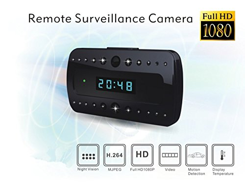 Spy Camera,UYIKOO® 16GB 1920*1080P FHD Mini Clock Camera Night Vision 120 Degree Wide View Angle