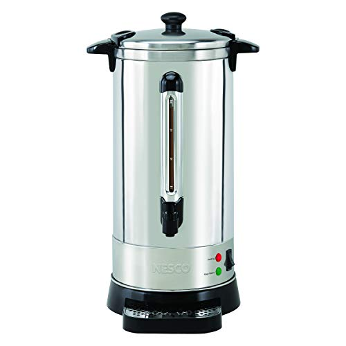 Commercial Aluminum Percolator - NESCO CU-50, Professional Coffee Urn, 50 Cups, Stainless Steel