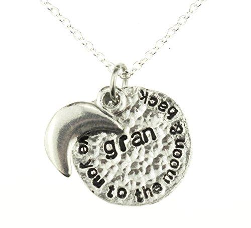 I Love You to the moon and back Gran Collier Idée de cadeau pour Gran pour anniversaire, Noël et la fête des mères