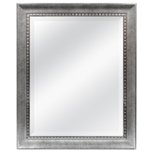 MCS 22x28 Inch Slope Mirror, 27.5x33.5 Inch Overall Size, Silver -