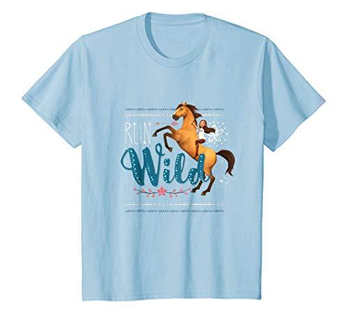 Kids DreamWorks Spirit Riding Free - Run Wild Kids T-Shirt (Spirit Free Tshirt)
