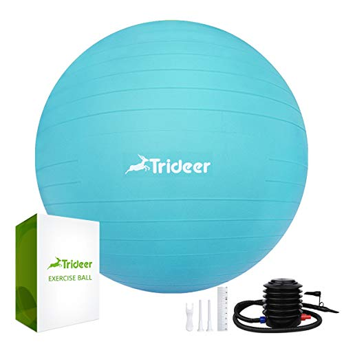 "Compare the Best Trideer Exercise Ball (45-85cm) Extra Thick Yoga Ball Chair, Anti-Burst Heavy Duty Stability Ball Supports 2200lbs, Birthing Ball with Quick Pump (Office & Home & Gym) (Turkis, 65cm) 2018: This Buying Guide was Voted ""Most Helpful Trideer Exercise Ball (45-85cm) Extra Thick Yoga Ball Chair, Anti-Burst Heavy Duty Stability Ball Supports 2200lbs, Birthing Ball with Quick Pump (Office & Home & Gym) (Turkis, 65cm) Reviews"". Our ""Tips & Tricks"" will help YOU find the best Trideer Exercise Ball (45-85cm) Extra Thick Yoga Ball Chair, Anti-Burst Heavy Duty Stability Ball Supports 2200lbs, Birthing Ball with Quick Pump (Office & Home & Gym) (Turkis, 65cm) at a great price."
