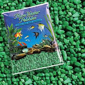 Pure Water Pebbles Nature's Ocean Aquarium Gravel Emerald Green Gravel 5-lb