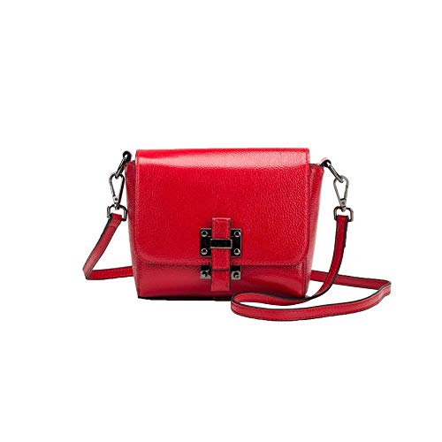 Rojo Hombro La De Manera Ocasional Femenino color Un Tamaño Bolso Cuadrado Pequeño Eeayyygch Tamaño Negro 6qfFF
