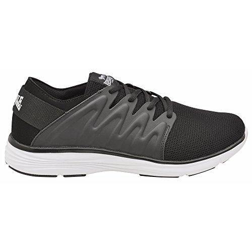 Lonsdale Heren Peru Veterschoenen / Sneakers Zwart / Wit