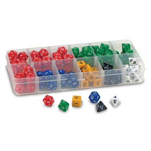 (EAI Education Polyhedra Dice Sampler - Set of 105 with Case)