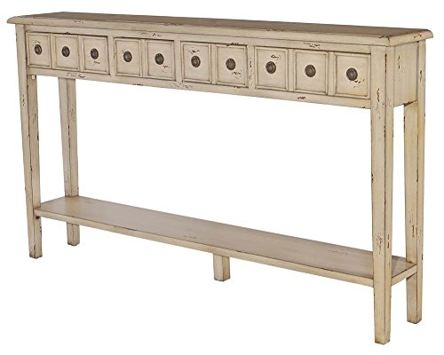 Powell Furniture 16A8213C Sadie Cream Long Storage Console Table by Powell Furniture