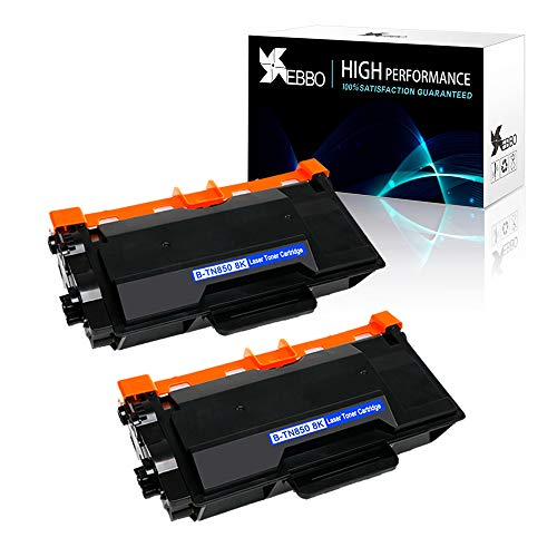 EBBO TN850 TN-850 Compatible Toner Cartridges Replacement for Brother TN880 TN820 used in HL-L6200DW HL-L5200DW HL-L5200DWT HL-L5100DN MFC-L5900DW MFC-L5800DW MFC-L5700DW Printer (8000 Pages, 2-Black)