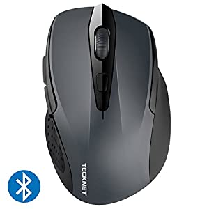 TeckNet 2400DPI Bluetooth Wireless Mouse, 18 Month Battery Life With Battery Indicator, 2400/2000/1600/1200/800DPI