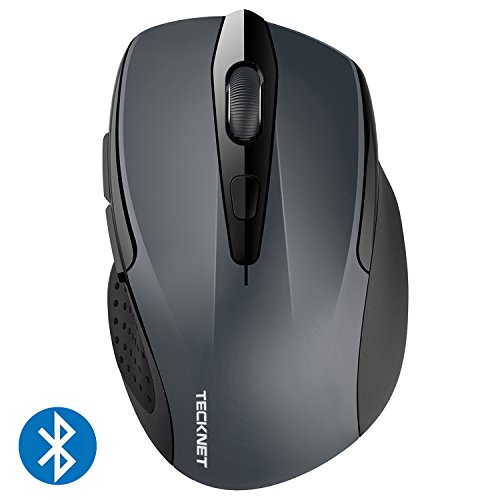 TeckNet 2400DPI Bluetooth Wireless Mouse, 18 Month Battery Life With Battery Indicator, 2400/2000/1600/1200/800DPI (Mouse Bluetooth Dell)
