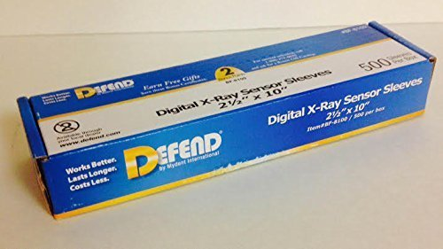Defend BF-8100 Digital X-Ray Plastic Sensor Sleeves Plastic Sensor Covers 2 1/2