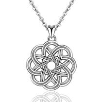 EUDORA Sterling Silver Infinity Love Irish Celtic Knot Pendant Necklace Retro Jewelry, 18 Chain