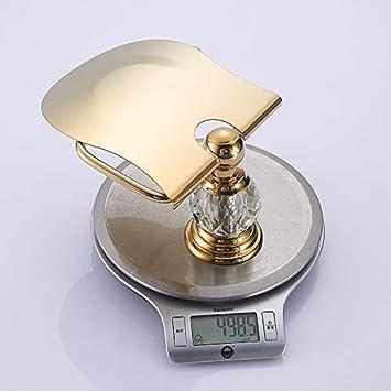 LHbox Tap Baño de Cobre Chapado en Oro de Titanio de Toallas de baño, estanterías