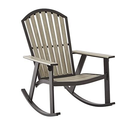 Exceptionnel Mainstays Springview Hills Resin Outdoor Adirondack Rocking Chair