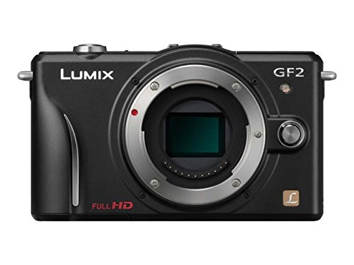 Panasonic Lumix DMC-GF2 Digital Micro Four Thirds Camera Body (International Model No Warranty) (Black) For Sale