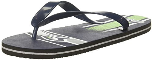 (Seattle Seahawks Unisex Gradient Big Logo Flip Flop Small)