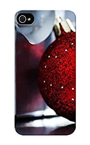 Fireingrass Case Cover For Iphone 5/5s - Retailer Packaging Ribbons Christmas New Year Happy New Year Ornaments Christmas Gifts Christmas Globes Protective Case