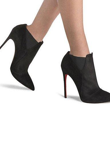 us10 Mujer Uk6 De Zapatos us8 Black La Uk8 Eu42 Tacón Trabajo Fiesta Botines Stiletto 5 Negro Eu39 5 Moda A Xzz Cn43 Black Oficina Y Vestido 5 Vellón Botas 5 Cn40 Noche HqwCE5xqd