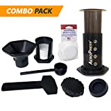 AeroPress Coffee and Espresso Maker with Extra Rubber Seal and 350 Micro Filters (700 Total)
