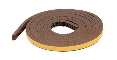 M-D Building Products 63644 All-Climate EPDM Weatherstrip, All Strip for extra large gaps, 5/16 in. x 17 ft, Brown