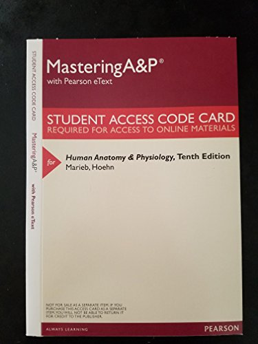MasteringAampP With Pearson EText ValuePack Access Card
