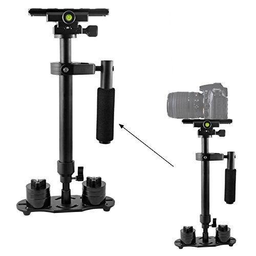 pangshi S60 24''/60cm Handheld Stabilizer Camera Video Steadicam Steadycam with 1/4 Screws Quick Release Sliding Plate for Nikon Canon DSLR SLR Cameras DV up to 5.5lbs/2.5kg by pangshi