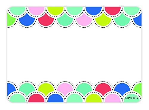 Creative Teaching Press Poppin' Scallops Name Tag Labels, Adhesive, CTP 8707