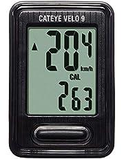 CATEYE fietscomputer Velo 9 CC-VL820 | Stappenteller | (Gemiddelde) Snelheidsmeter | Zwart