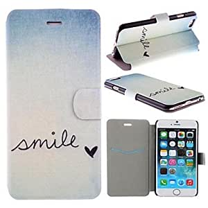 Smile Everyday Pattern PU Leather Full Body Cover with Card Slot for iPhone 6