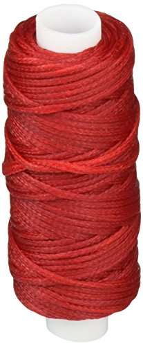 Tandy Leather Waxed Braided Cord 25 yds. (22.9 m) Red 11210-07