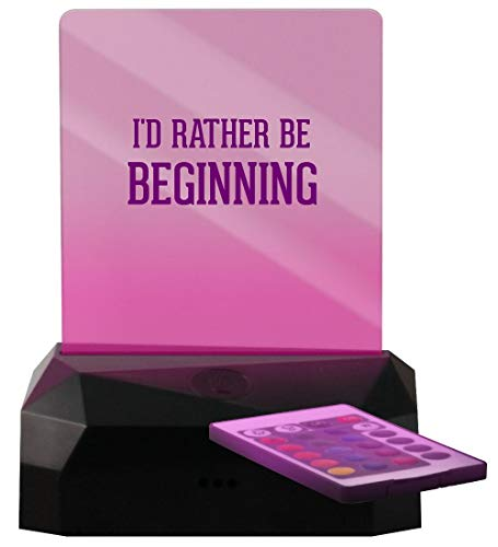I'd Rather Be Beginning - LED Rechargeable USB Edge Lit Sign (The New Batman Adventures Over The Edge)
