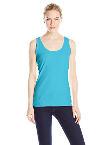 Hanes Women's Scoop Neck Tank Top, Process Blue, X-Large