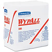 Kimberly-Clark 41026 WypAll X80 Wipers, 12.5 x 13, 1/4 Fold, 50-Count (4-Pack)