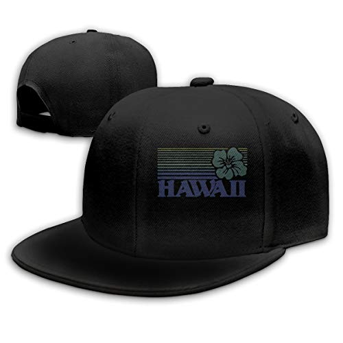 TYMOFII80 Baseball Cap Hawaii Unisex Adjustable Flat Vintage Sports Hat Snapback Hip-Hop Cap