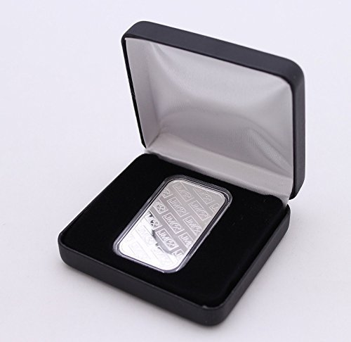 Displays Leatherette Black (BLACK LEATHERETTE DISPLAY BOX FOR 1 OUNCE SILVER BAR IN AIRTITE CAPSULE - VERTICAL)