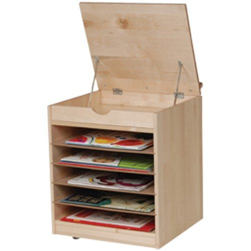 Constructive Playthings Premium Quality Maple Big Book Display And Storage