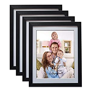 Giftgarden Black 8×10 Picture Frame Wall Decor for 8 by 10 Inch Photo Set of 4