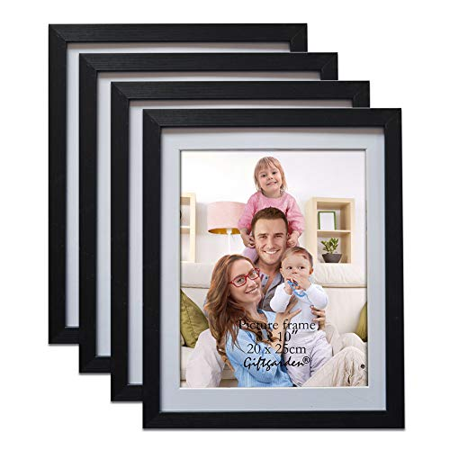 Giftgarden Black 8x10 Picture Frame Wall Decor for 8 by 10 Inch Photo, Set of 4]()