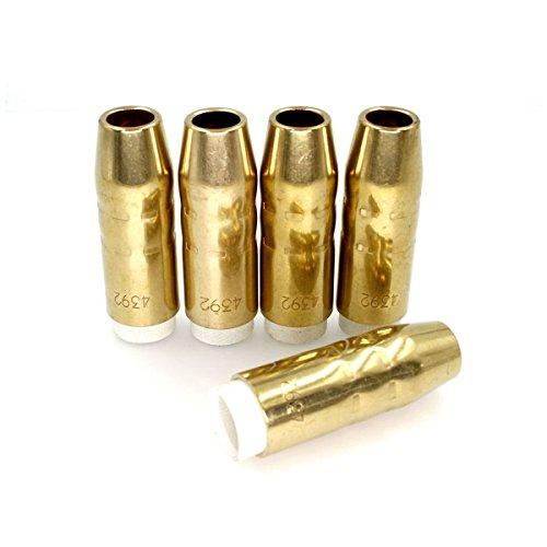 MIG Welding 1/2'' (13mm) Gas Nozzles 4392 for Bernard 200-300 MIG Welding Guns PK/5 by For Bernard Torch