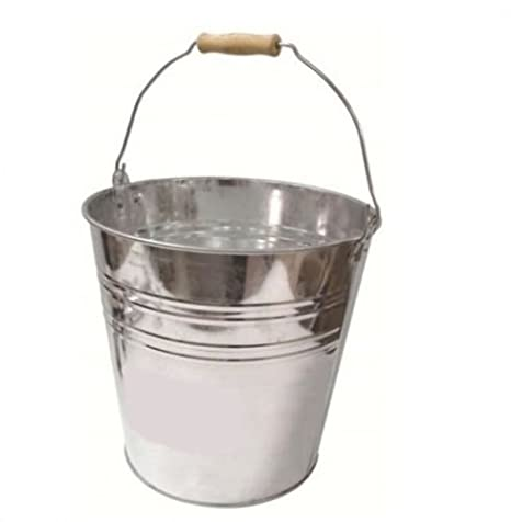 10L Bucket Heavy Duty Metal Ash Tidy Bucket Bin Coal Log Storage Carrier With Handle