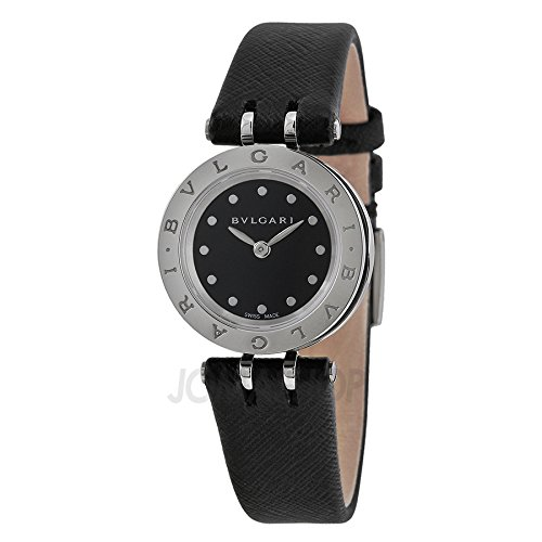 Bvlgari B Zero 1 Black Dial Black Leather Ladies Watch BZ23BSCL