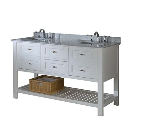 - Direct Vanity Sink 60D6-WWC Mission Spa Double Vanity 60