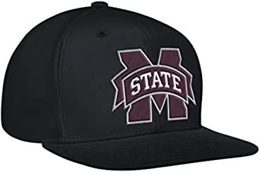 NCAA Mississippi State Bulldogs Men's Flat Brim Snapback Cap, One Size, Black