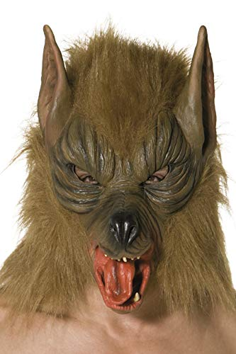 Smiffys Unisex Wolf Mask, Brown, One Size, 33785