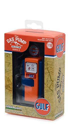 1948 Wayne 100 A Gas Pump Gulf Oil  That Good Gulf Gasoline  Gas Pump Replica Vintage Gas Pump Series 2 1 18 Diecast Model By Greenlight 14020 B