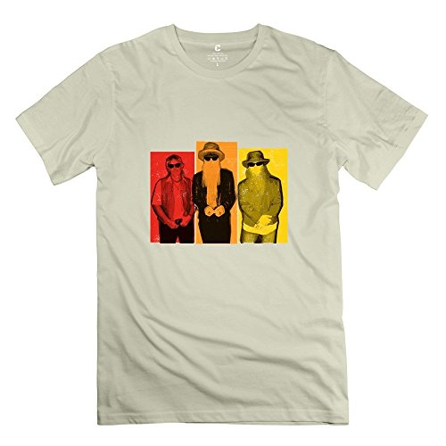 - StaBe Man ZZ Top Band T-Shirt 100% Cotton Novelty XXL Natural