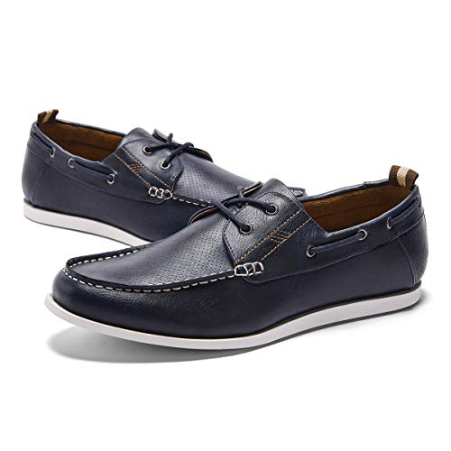 - GM GOLAIMAN Men's Boat Shoes Slip On Stylish Fashion Sneaker Casual Loafer Dark Blue 12
