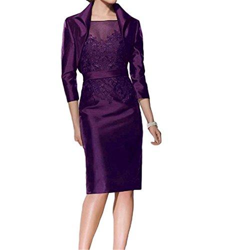 Lace Kleid Mantel Braut Kurze Jacke Abendkleid Mutter HWAN Traube Damen der mit SYxpq
